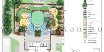 Óvodakert kertépítészeti tanulmányterv