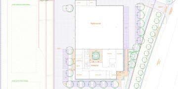 Kertépítészeti engedélyezési terv, telephely parkosítás terve