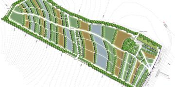 Temetőkert tervezés és kegyeleti park tervezés, áttekintő tájépítészeti terv