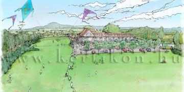 Kertépítészeti látványterv; Kisapáti, Diska major: Ifjúsági szabadidő- és rendezvényközpont